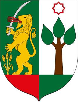 Baktalórántháza település címere