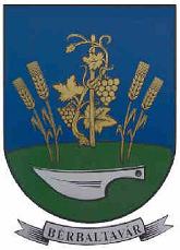 Bérbaltavár település címere