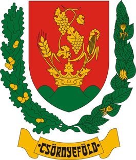 Csörnyeföld település címere
