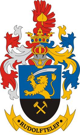 Rudolftelep település címere